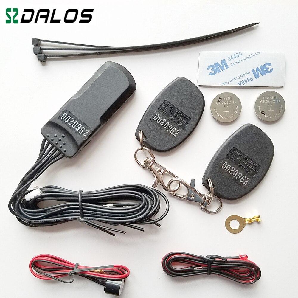 Alarme de voiture auto Alarme RFID 2.4 ghz voiture système antidémarrage avec accéléromètre capteur de Haute qualité