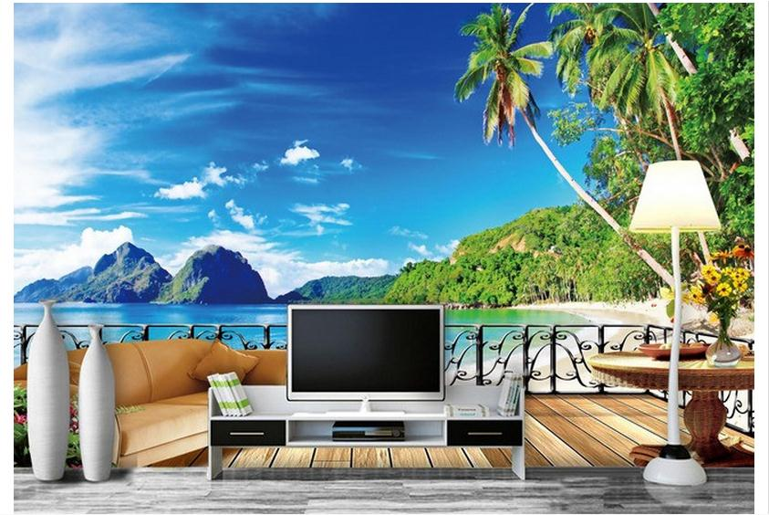 Wall Murals Cheap online get cheap 3d wall murals wallpaper hawaii -aliexpress