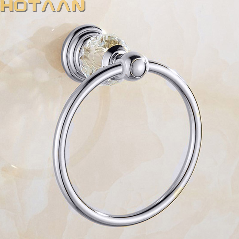 Luxury Crystal Towel Holder Chrome Towel Ring Round Wall Mounted Towel Rack Bar Holder Classic Bathroom Accessories YT-12891-CLuxury Crystal Towel Holder Chrome Towel Ring Round Wall Mounted Towel Rack Bar Holder Classic Bathroom Accessories YT-12891-C