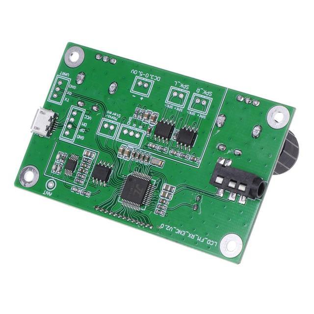 OOTDTY جديد وصول 87 108 ميجا هرتز DSP و PLL LCD ستيريو الرقمية راديو FM وحدة الاستقبال التحكم المسلسل رائجة البيع