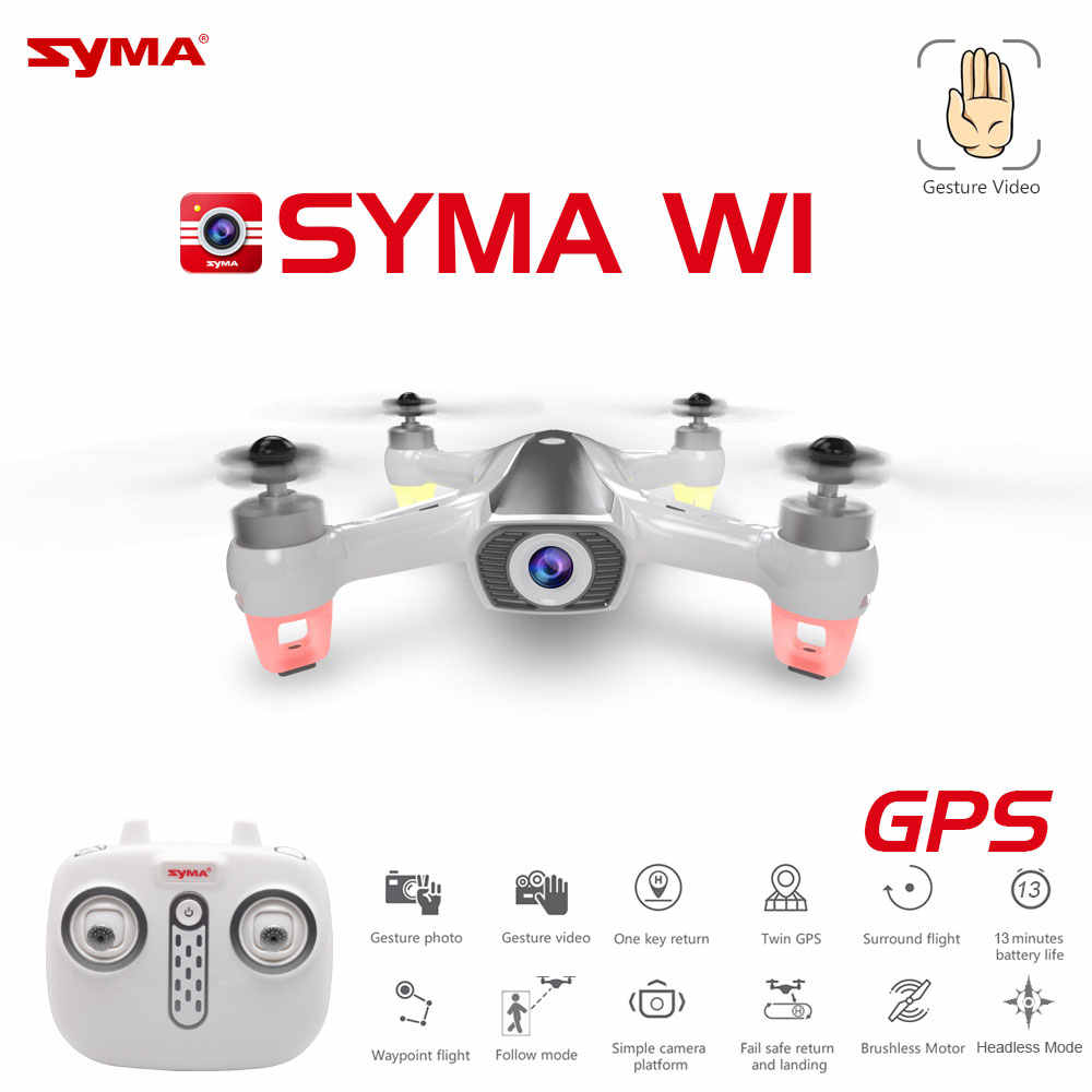 Новейший Syma W1 Дрон GPS 5G WiFi FPV с 1080 P HD регулируемой камерой следуя за мной режим жесты RC Квадрокоптер vs F11 SG906 Дрон