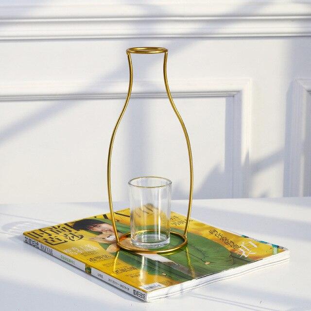 Vases nordique métal doré 5