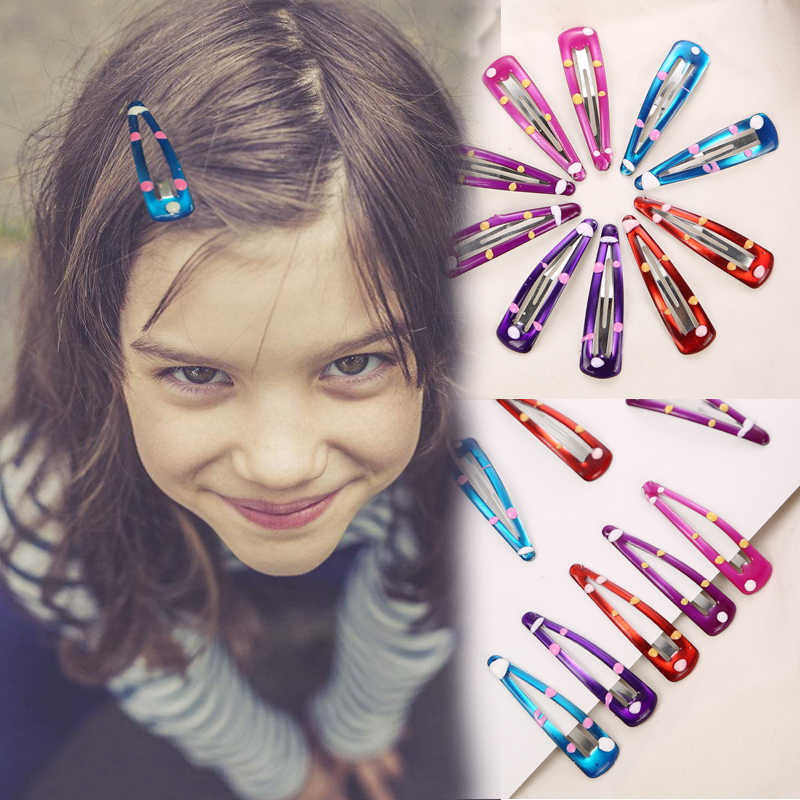 AIKELINA 10Pcs Fashion hairpins meta Hair Clips Baby Kids Hair Barrettes Child Cute Hair Accessories For Headwear