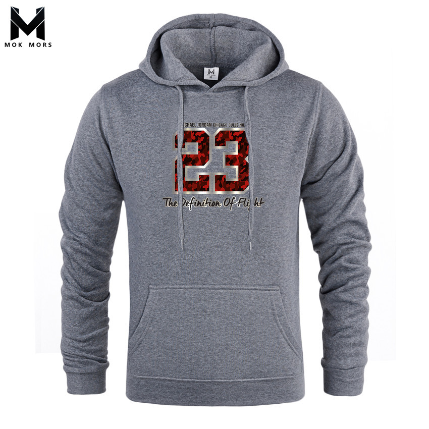 Hoodies Men Long-Sleeved Fashion-Brand Business Wild Casual Print Hip-Hop-Letters-Printed