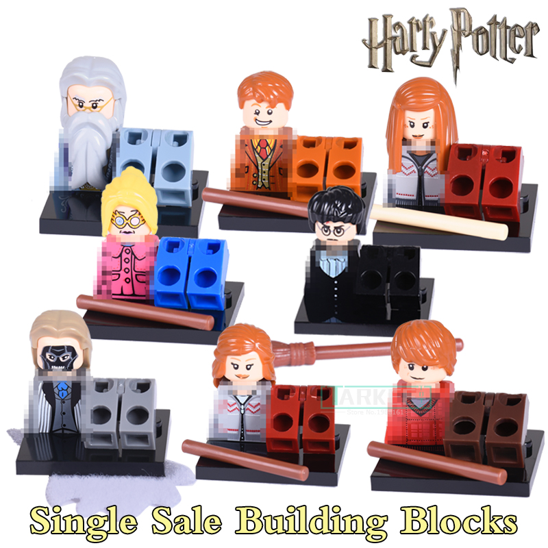 Harry Potter Professor Dumbledore Hermione Ron Fred George Death Eater Assemble Building Blocks diy figures Bricks Kids Toys hao gao le 40set harry potter blocks hermione ron lord voldemort draco malfoy building blocks models toy