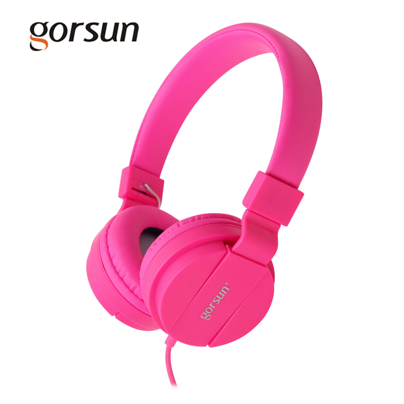 Gorsun Wired Headphones 5 Color Deep Bass Comfortable Gaming Headsets Multi-platform Music 3.5mm Headphone With Microphone