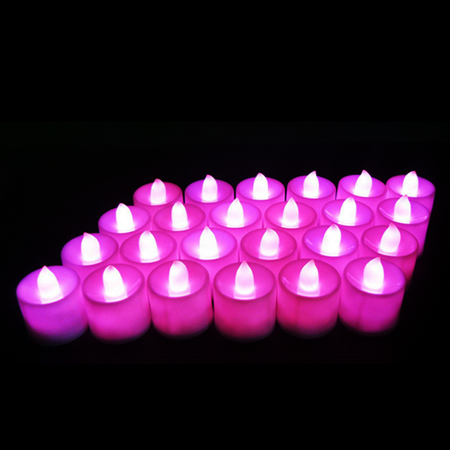 coloured led tea lights