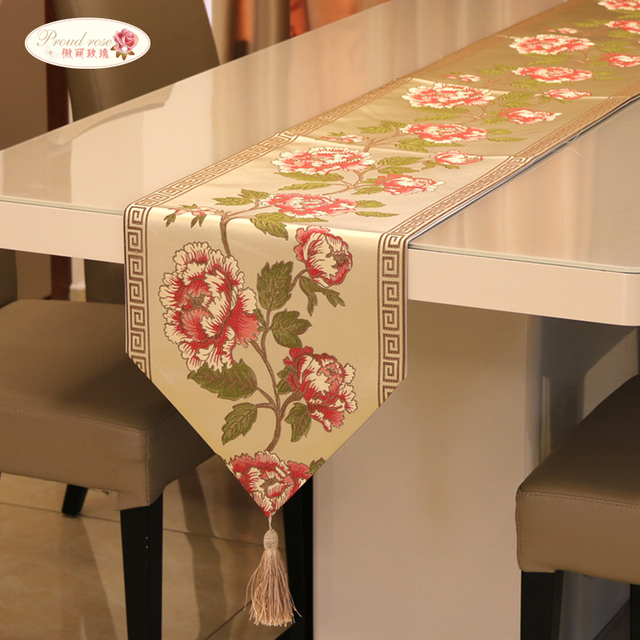 Fabulous Proud Rose Chinese Embroidery Table Runner Tablecloths Classical  AW87