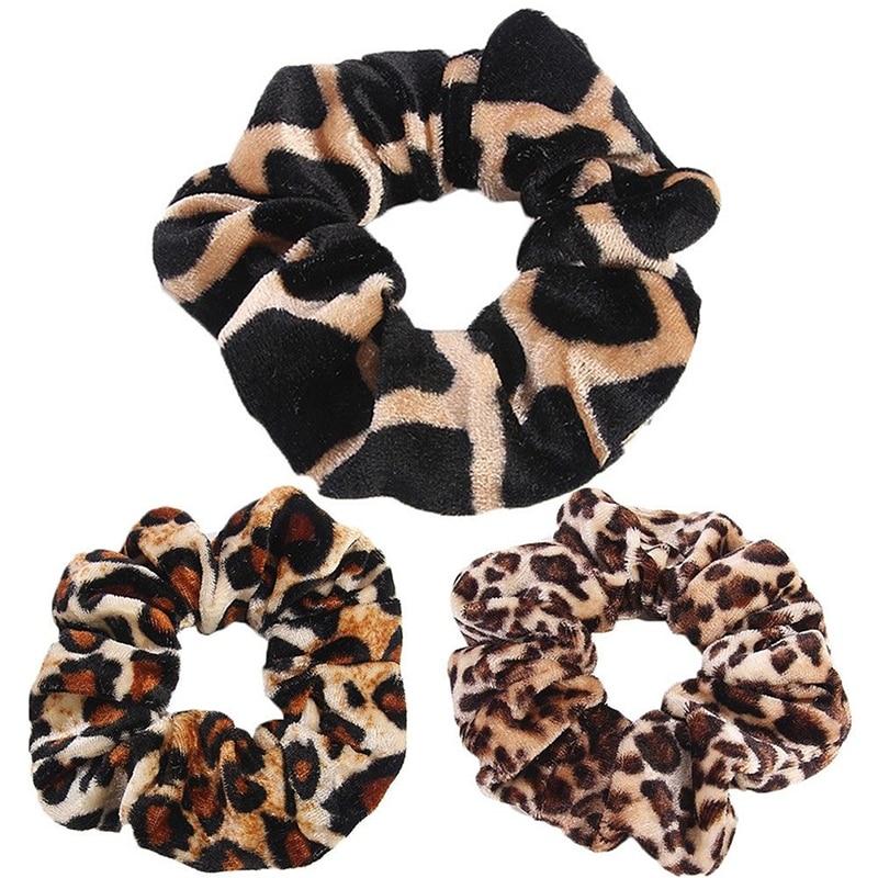 leopard print elastic hair bands
