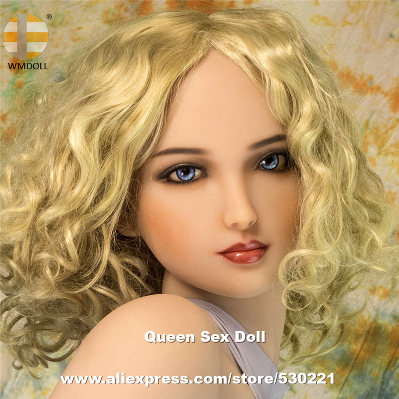 WMDOLL Top Quaity Lifelike Silicone <font><b>Sex</b></font> <font><b>Dolls</b></font> Head For Realistic Sexy Love <font><b>Doll</b></font> Oral Sexual Toys Can Fit 140cm To <font><b>172cm</b></font> Body image