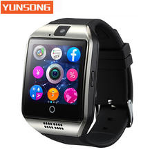 Original Q18 Bluetooth Smart Watch Support SIM GSM TF Card camera with Touch Screen For Android Mobile phone pk DZ09 GT08