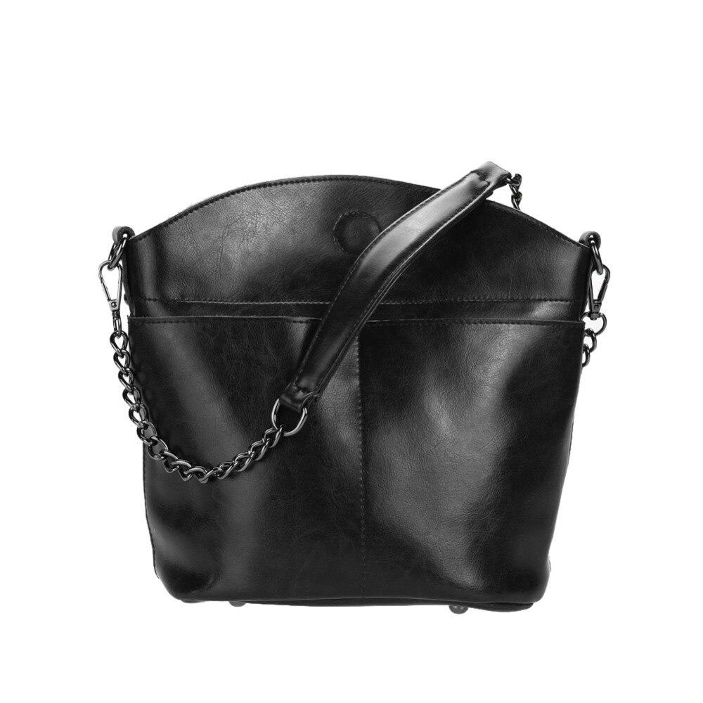 100% Genuine Leather Women Messenger Bags Vintage Ladies Shoulder Bags Candy Color Women Small Bucket Bag Ladies Clutch