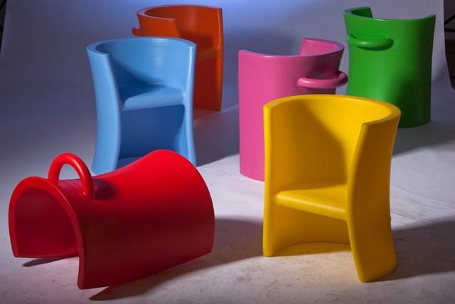 Kids schommelstoel kids plastic klassieke mode ontwerp schommelstoel