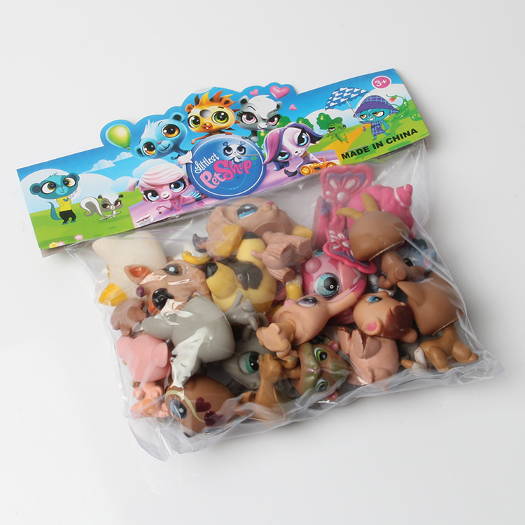 20Pcs/lot Cute Littlest Pet Shop Toys Lot Figures Collection Toy Cat Dog Loose Kids Action Figure Toys For Children cute pet rare color sausage short hair dog action figure girl s collection classic anime christmas gift lps doll kids toys