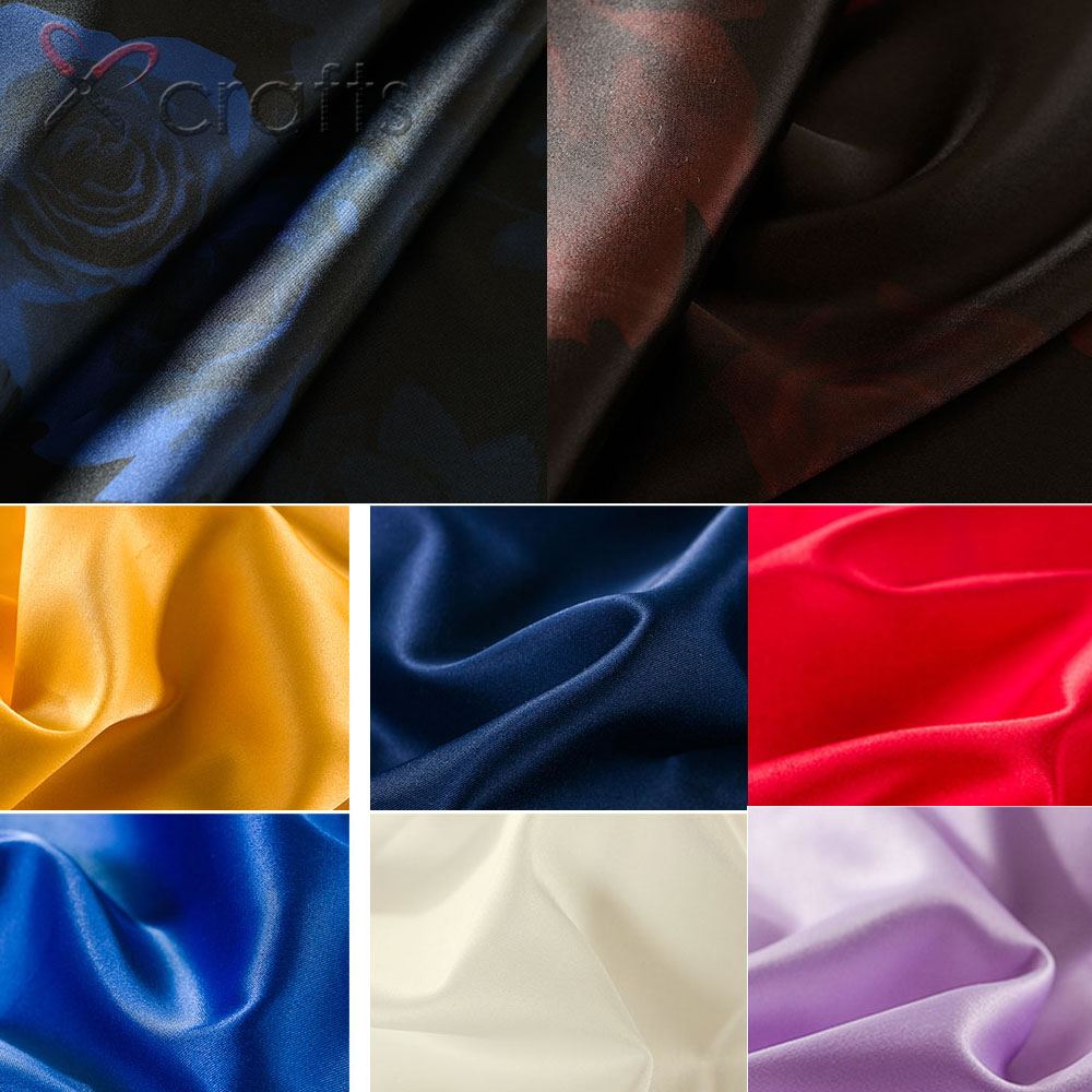 Home & Garden Silk Lining Fabric Clothing Garment Fabric Bh1984 Bh1656 Bh1658 0.5m