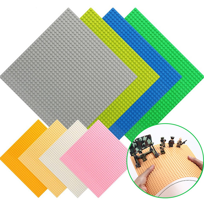 8 Color <font><b>32*32</b></font> Dots Small Bricks <font><b>Baseplate</b></font> Compatible DIY Building Blocks Base Plate Board Construction Toy For Children Gifts image
