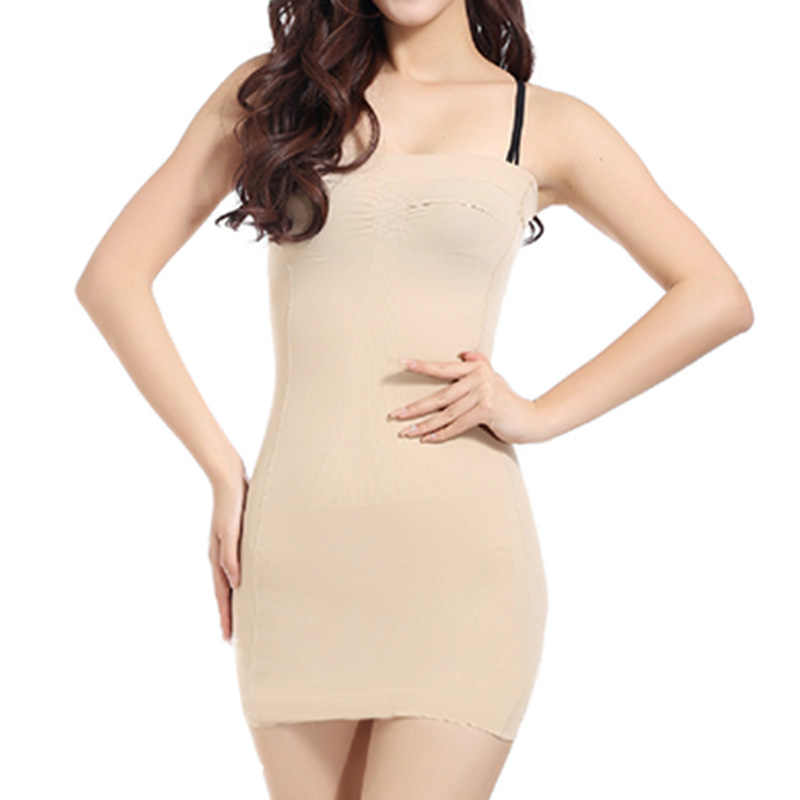4b8ee91b0 2018 Summer Sexy Women Body Slip Shaper Seamless Slimming Tube Shapewear  Strapless Dress