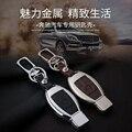 Leather Car Keychain Key Fob Case Cover wallet for Mercedes W203 W210 W211 amg W204 C E S CLS CLK CLA SLK Benz Keyring Holder