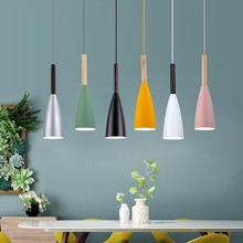 Iskandinav Kolye Işıkları LED yemek Lambası Ahşap Lamba bar Ev Aydınlatma Modern hanglamp