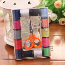 hot deal buy new styles special offer spools assorted colors sewing threads needles set sewing tools kit.sewing tool storage box.