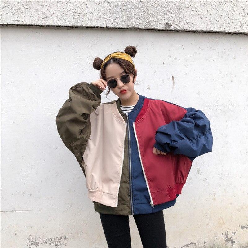 Autumn Baseball   Jackets   Women Boyfriend style Female   Basic     Jacket   chaqueta mujer Harajuku Fashion Outwear windbreaker X9109