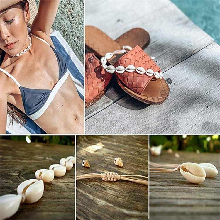 Chereda Charm Vỏ Nâu Đen Chuỗi Dây Vòng Đeo Cổ cho Nữ Vintage Tay Choker Xương Đòn Bãi Biển Mùa Hè Bé Gái Món Quà Trang Sức