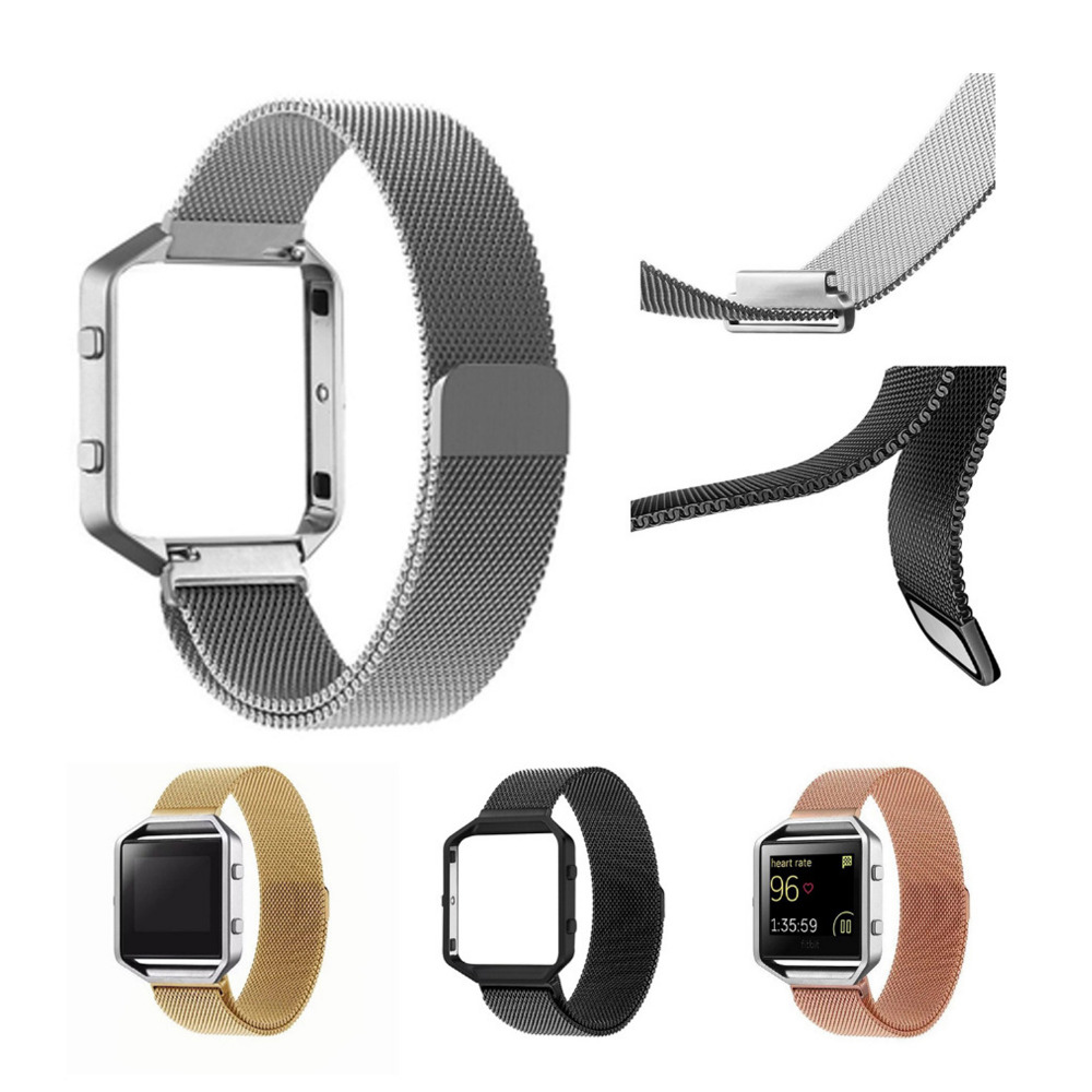 Milanese Loop Strap for fitbit blaze band with frame Stainless Steel Watch Band Magnetic Lock Bracelet for fitbit high band crested stainless steel watch band for fitbit charge 2 bracelet smart watch strap for fitbit charge2 with connector