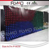 Free shipping P18 4X7M electric fireplace led video curtain