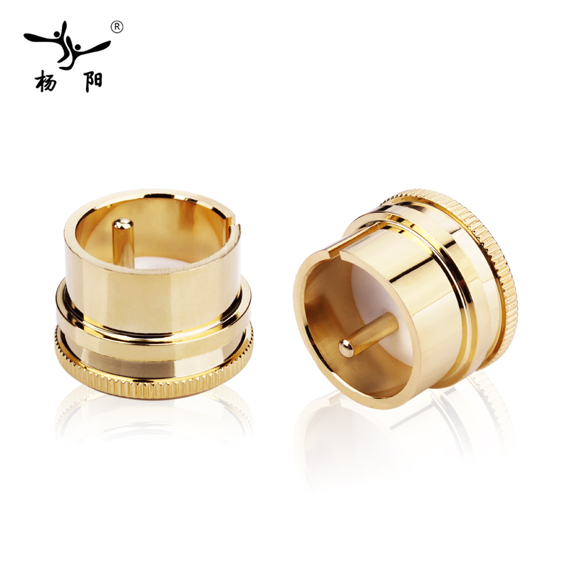 12pcs X Noise Stopper Gold Plated Copper Cap Dust Protector Rca Plug Caps Strong Packing Plug & Connectors Accessories & Parts