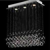 Свет люстры G10 лампы 95 245 В водонепроницаемый драйвер лазерного металлическое основание K9 Кристалл Stick дизайн столовой