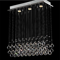 led chandelier light G10 Bulb 95 245v waterproof driver laser Metal base K9 crystal Stick design Dining room
