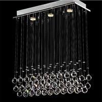 led chandelier light G10 Bulb 95 245v waterproof driver laser Metal base K9 crystal Stick design Dining room