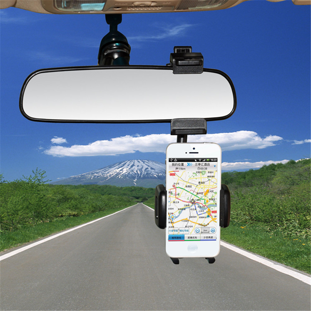 Car rearview mirror mount holder car reviews - Car Rearview Mirror Mount Holder Stand Cradle For Cell Phone Gps Pda Mp4 Stable Mobile Phone