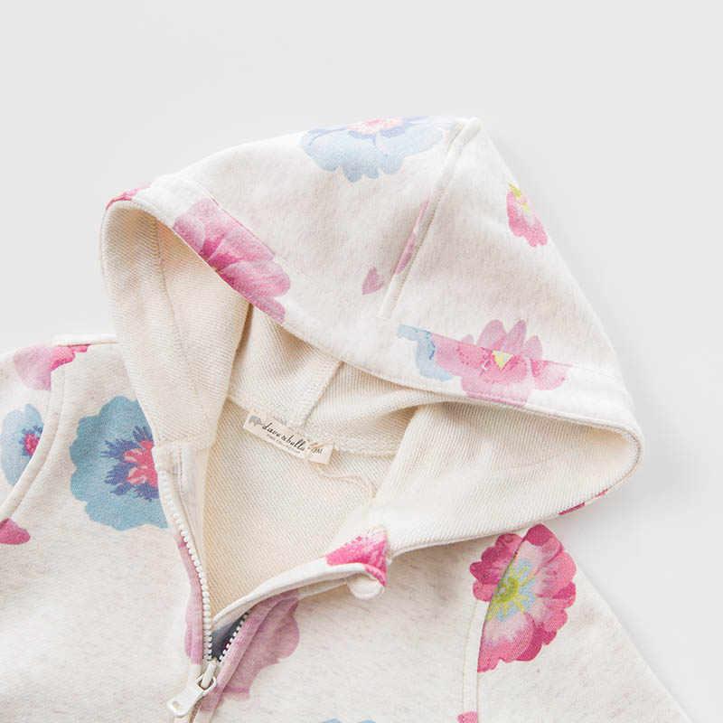 DB7625 דייב bella תינוקות האביב בנות ילדי מעיל ברדס הלבשה עליונה הדפסת פעוטות בגדי ילדים באיכות גבוהה היפה