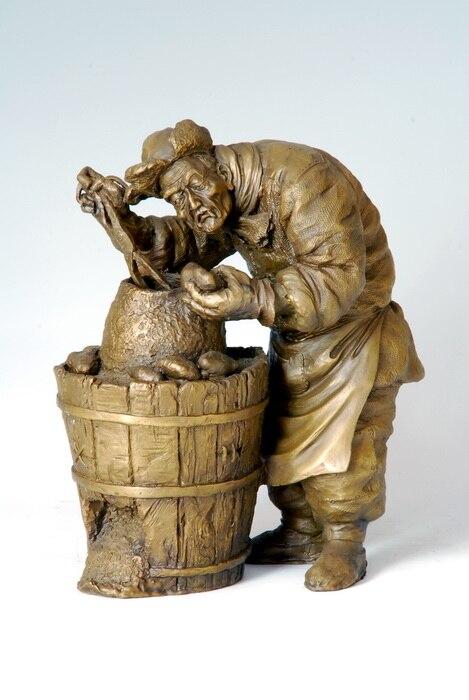 ATLIE BRONZES moderne abstraite Bronze Sculpture chinois antiquités Figurine décoration de la maison cuit patate douce