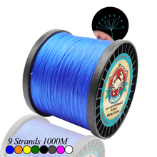 DAOUD Braided Fishing Line 9 Strands 1000M PE Wire Multifilament Fishing Line Braided Wire Ocean Beach Fishing