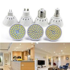 E27 E14 MR16 GU10 lamp 220V 110V SMD 2835 48 60 80 LEDs Cold White Lampada LED For Home Outdoor Spotlight