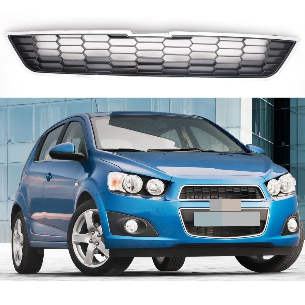 1Pcs Front Upper Honeycomb Radiator Grille Grill for Chevrolet Aveo 2011-2016 защита картера штамповка 2 мм chevrolet aveo t250 2008 2011 all