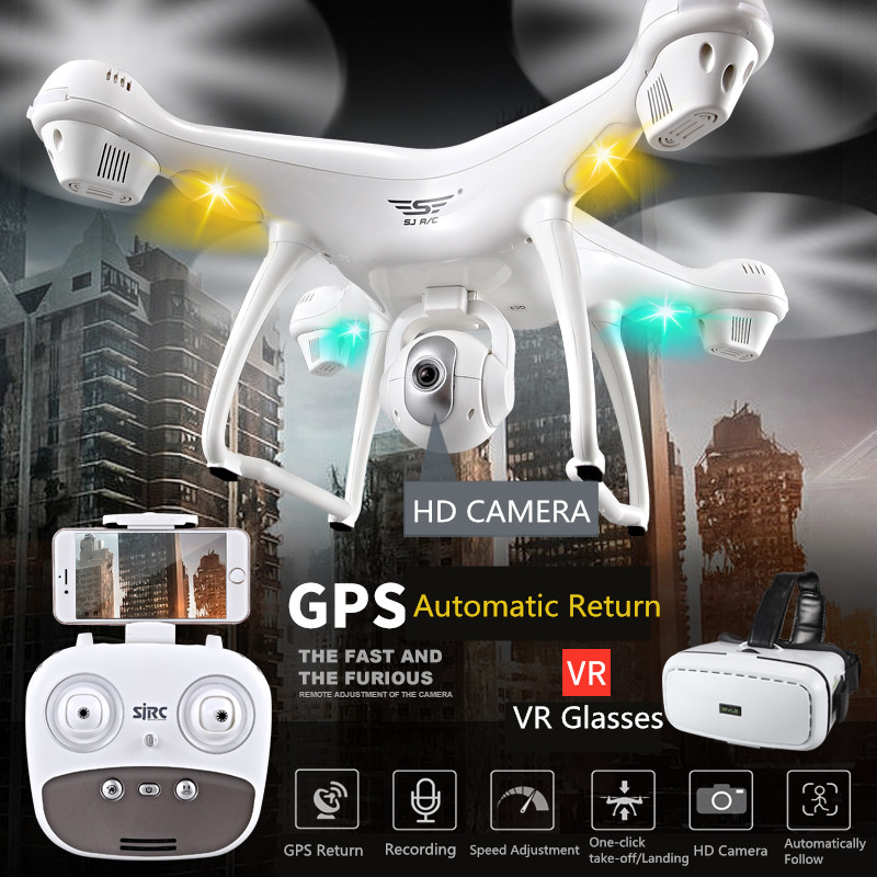 Reikirc SJD S70W Dual GPS Follow Me WIFI FPV RC Drones Quadcopter with HD 720P 1080P Wide angle Camera GPS position Helicopter