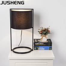 JUSHENG Modern Bedroom Table Lamp Bedside Study Room Art  Decor Hotel Desk Light fixtures Indoor with E27 socket