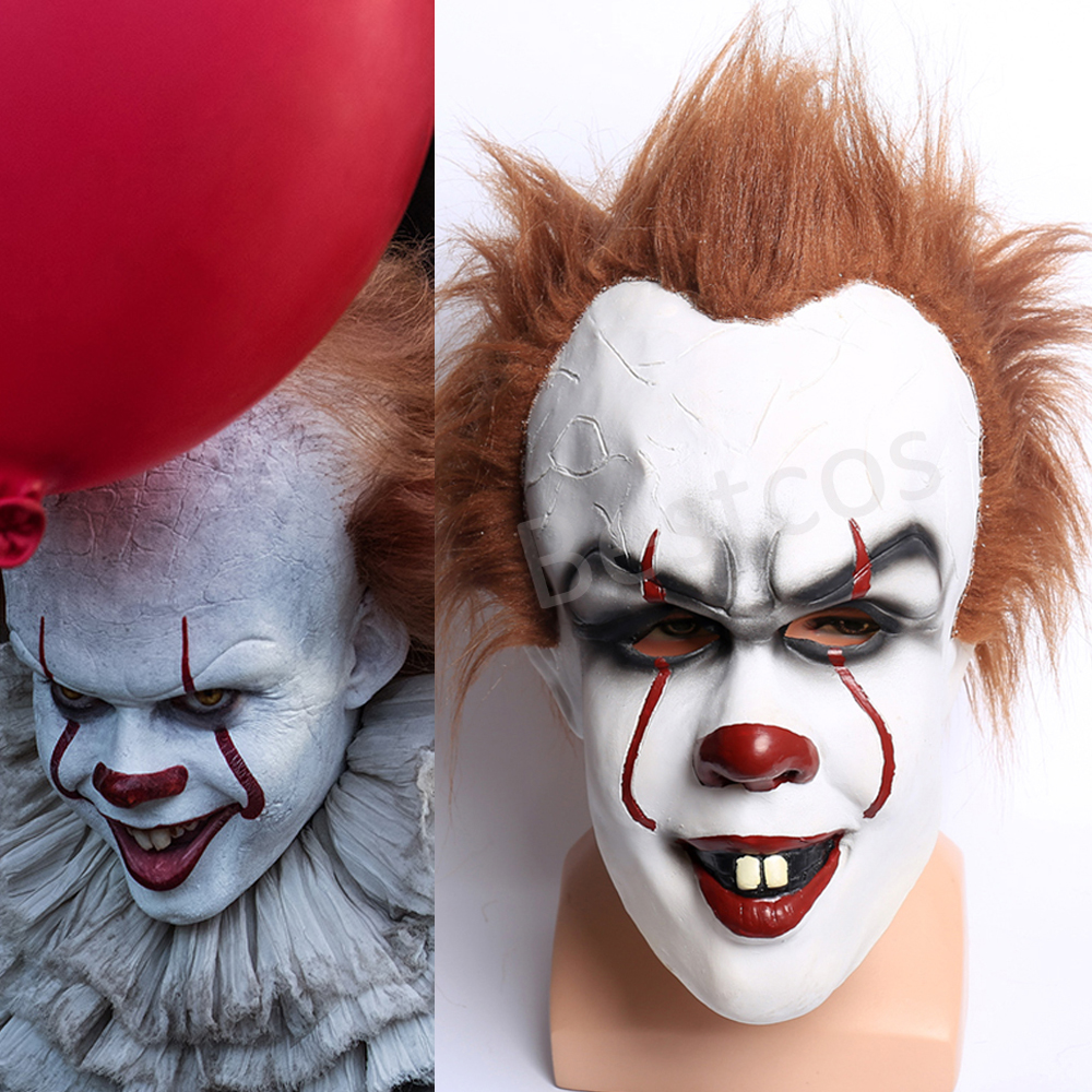 242e27f37cf1 2017 Movie Stephen King s It Pennywise Mask Cosplay Full Head Latex Horror  Scary Clown Joker Helmet. Uso speciale. Costumi. Nome del reparto