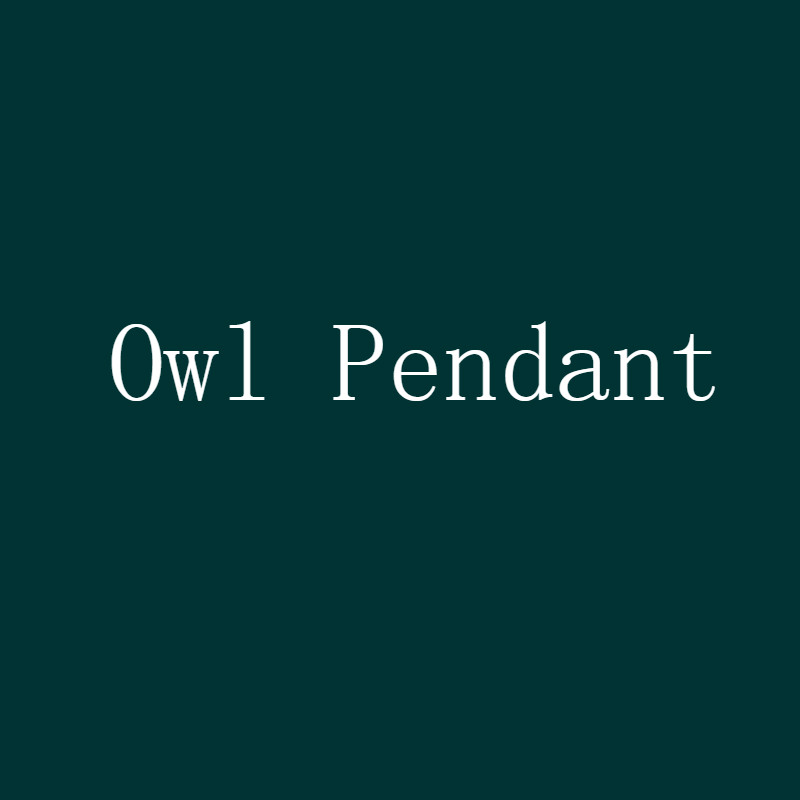 Iced Zircon Owl Pendant...