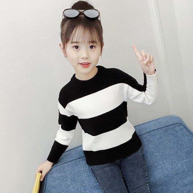49b3dee50 Christmas Kids Girls Sweater Knit Autumn 2018 Winter Knitted Teen ...