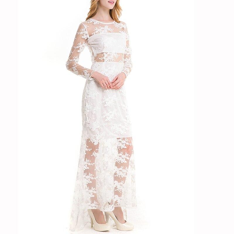 Charmingtrend Frauen Kleid Lange Hochzeit Party Kleider Promi ...