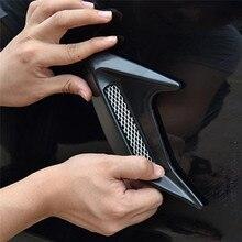 Adesivo de admissão para para choque, 2 peças, para choque, ventilação lateral do carro, decorativo