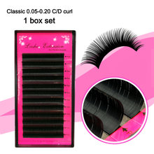 8da526ae8c6 All size Premium 3D Silk Eyelash Extensions Individual False Mink Lashes  B/C/D Curl False eyelashes,Russian volume