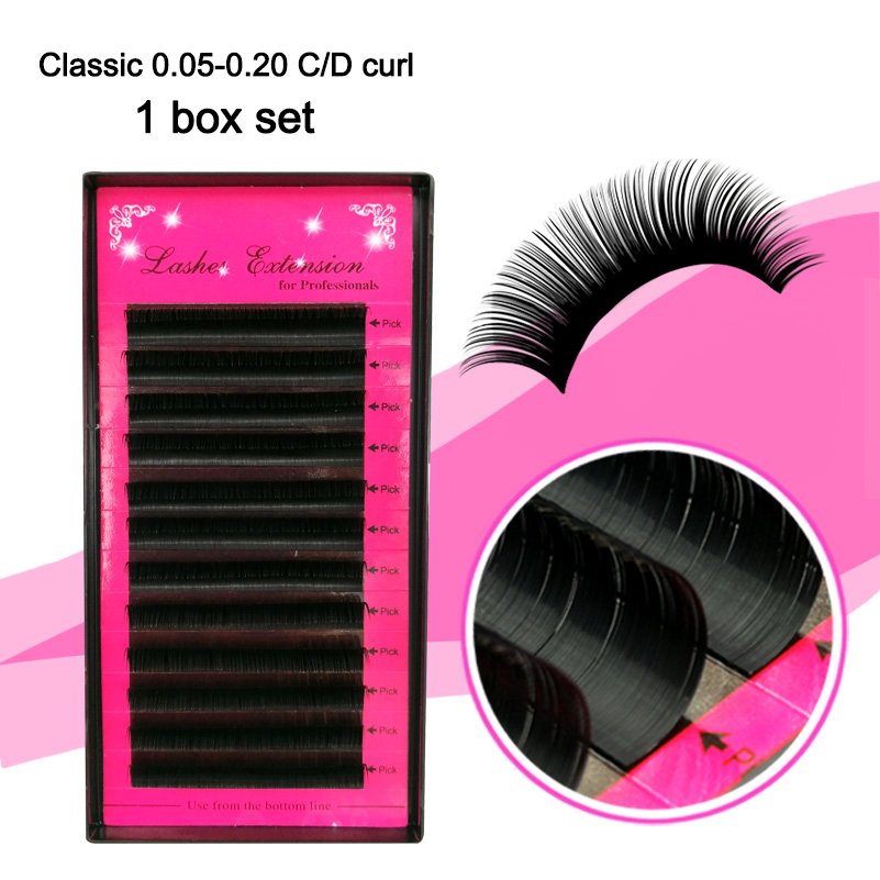 All Size Easy Fans 3D Silk Eyelash Extensions Individual False Mink Lashes B/C/D Curl False Eyelashes,Russian Volume