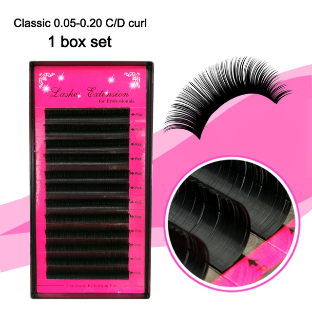 2d84e8ca401 All size Premium 3D Silk Eyelash Extensions Individual False Mink Lashes  B/C/D