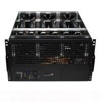 6U Dual Power 6 Ethereum Eth ZEC ETC HSR Chassis GPU mining case Chassis 4U case new