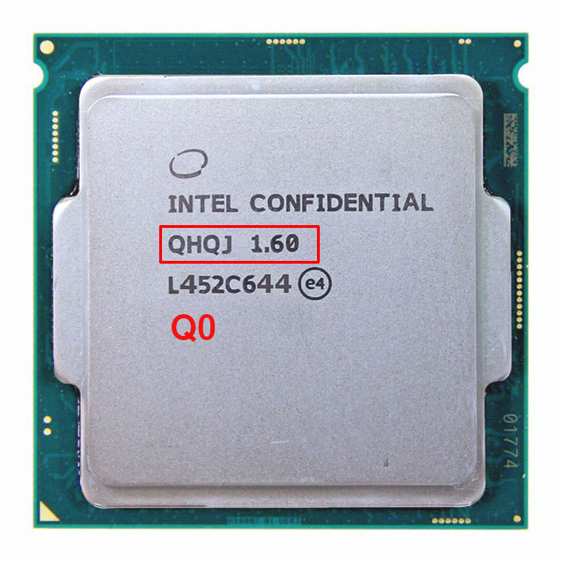 цена Engineering version of INTEL I7 PROCESSOR ES QHQJ 1.6 GHZ AS QHVX QHQG Intel Skylake CPU 1.6 Internal graphics HD530